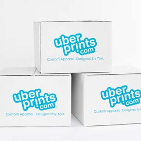 UberPrints shipping boxes