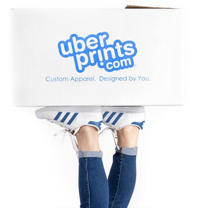 UberPrints Shipping Box on Feet