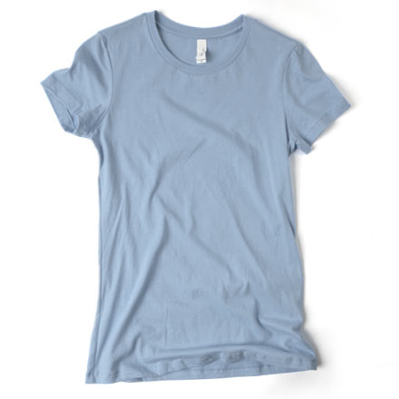 Photo of a ladies fitted t-shirt