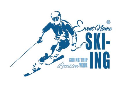 Skiing t-shirt designs