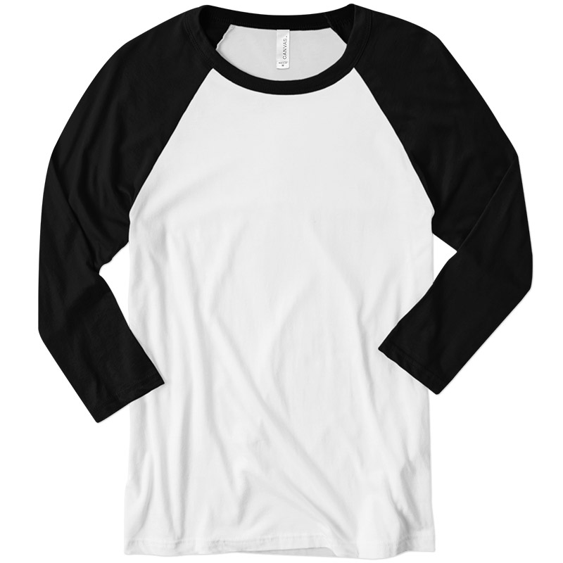 Canvas Three-Quarter Raglan T-Shirt - White/Black