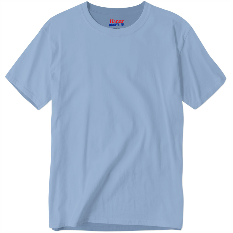 Hanes Beefy-T - Light Blue
