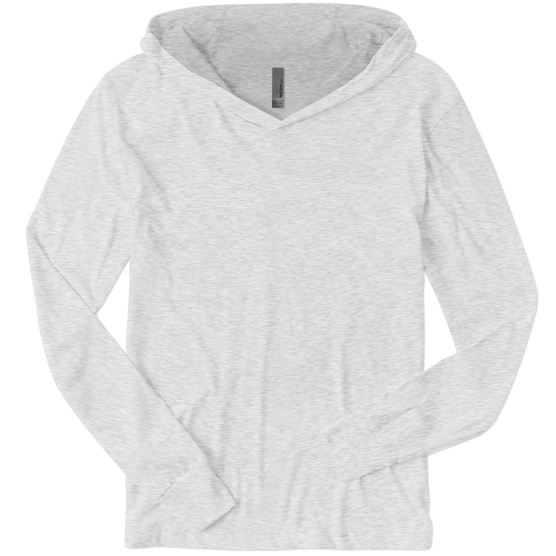 Next Level Triblend Hooded Tee - Heather White
