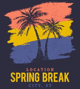 Spring Break t-shirt design 25