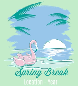 Spring Break t-shirt design 28