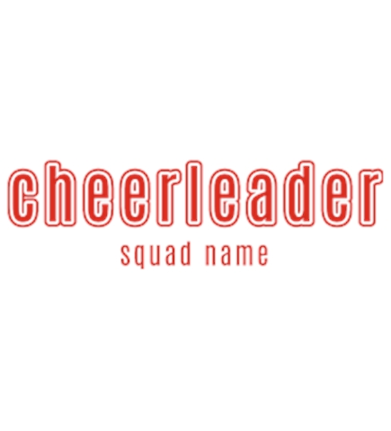 Cheerleading t-shirt design 39