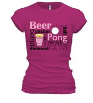 Beer Pong T-Shirts | Create Custom Tees at UberPrints.com