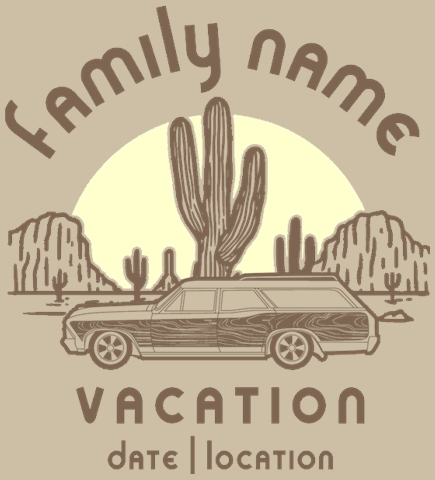 Family Vacation t-shirt design 43