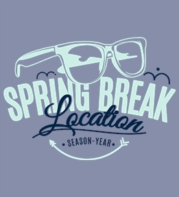 Spring Break t-shirt design 20
