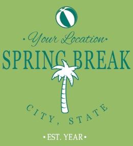 Spring Break t-shirt design 19