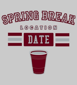 Spring Break t-shirt design 18