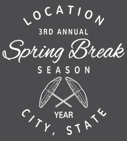 Spring Break t-shirt design 17