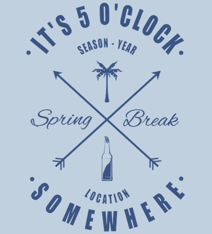 Spring Break t-shirt design 16
