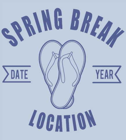 Spring Break t-shirt design 15