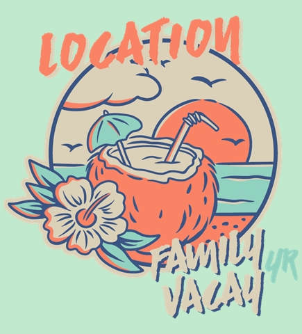 Family Vacation t-shirt design 10