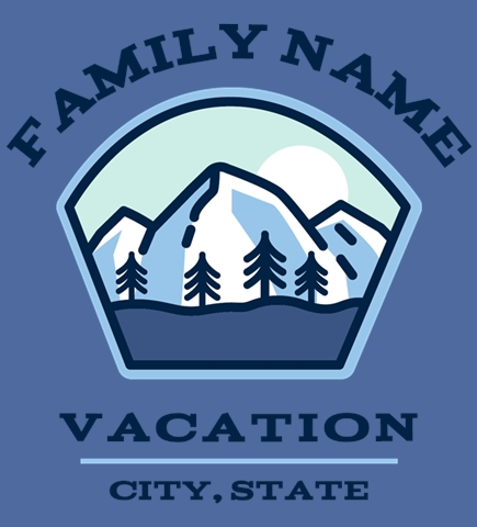 Family Vacation t-shirt design 49