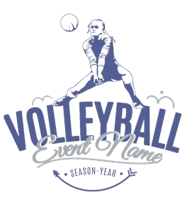 Volleyball t-shirt design 6