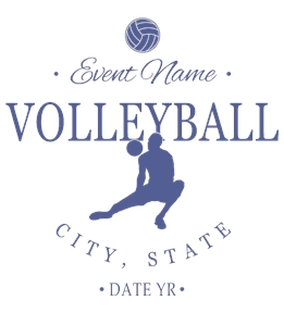 Volleyball t-shirt design 5