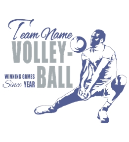 Volleyball t-shirt design 8