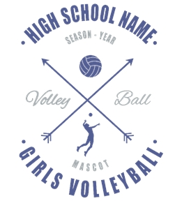 Volleyball t-shirt design 7