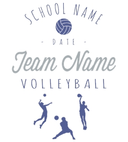 Volleyball t-shirt design 16