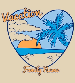 Family Vacation t-shirt design 20