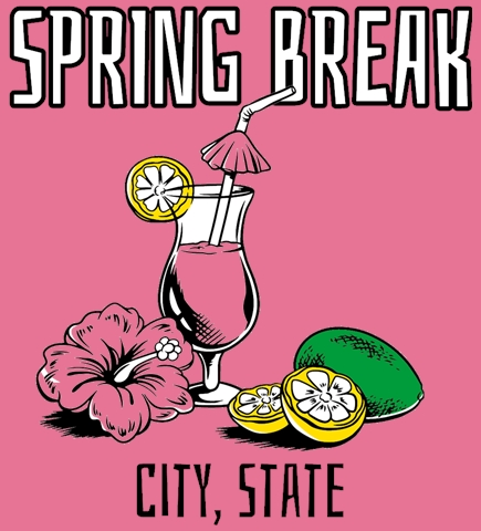 Spring Break t-shirt design 6