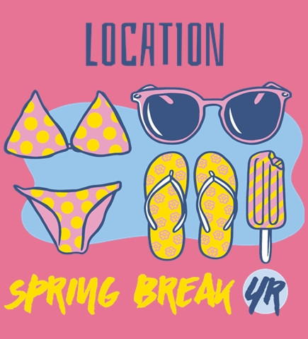 Spring Break t-shirt design 7