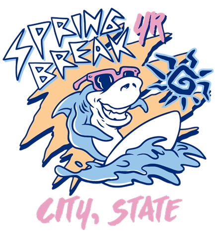 Spring Break t-shirt design 4