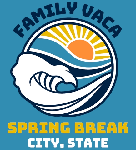 Spring Break t-shirt design 8