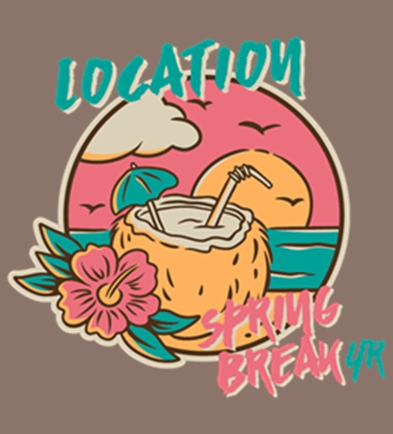 Spring Break t-shirt design 2