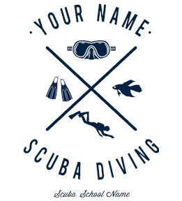 Create Scuba Tees Online | Design them on UberPrints.com