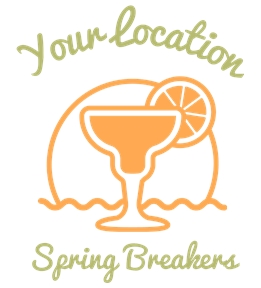 Create spring break t-shirts online at UberPrints.com